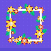 3D Floral Papercraft Vector Bakgrund