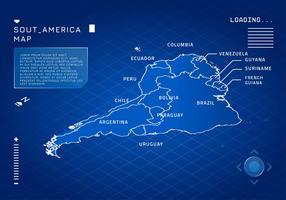 Sydamerika Modern Map Vector