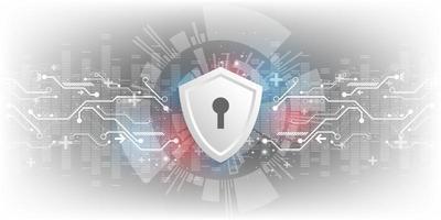 Hintergrund der Vektortechnologie im Konzept der Sicherheitssysteme.
