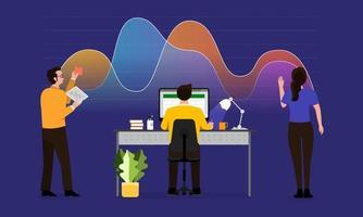 teamwork dataanalys vektor