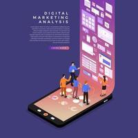 digitale Marketinganalyse vektor