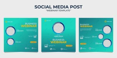 sociala medier berättelse postmallar webinar vektor