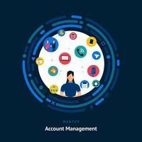 Account Management Fähigkeiten gesucht vektor