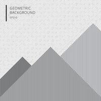 abstrakte geometrische mit Linienmuster weißen und grauen Hintergrund und Textur. vektor