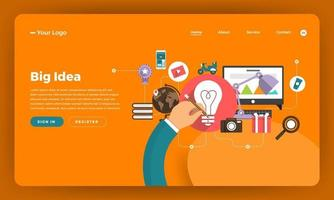 flaches Modell für die Website für digitales Marketing vektor