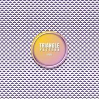 abstrakt lila trianglar mönster på vit bakgrund med ram 3d cirkel. vektor