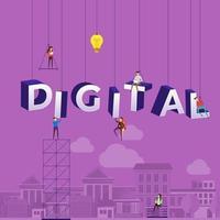 lag hårt på att konstruera ordet digital