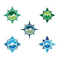 kompass logotyp bilder set