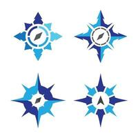kompass logotyp bilder set vektor