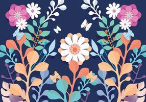 3d blommigt papercraft mönster blommor vektor