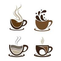 kaffekopp logotyp bilder set