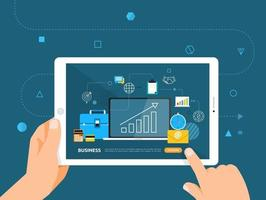 Online-Bildung mit einem Tablet vektor