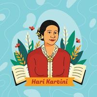 Kartini Day Design im flachen Stil vektor