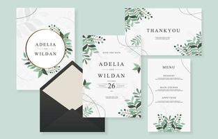 Hochzeit Vorlage Design-Sammlung vektor