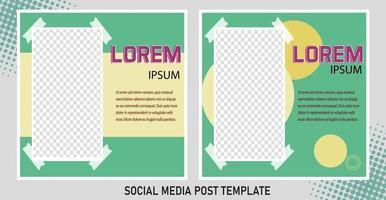 bearbeitbare Post-Template-Social-Media-Banner für digitales Marketing. Werbemarkenmode. Geschichten. Streaming. Vektorillustration - Vektor
