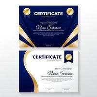 Sammlung von Zertifikatvorlagen vektor