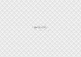 abstrakt geometrisk vit lutningbakgrund och struktur för fyrkantig 3d. vektor