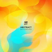abstrakt flytande form överlägg på livlig färgbakgrund med halvtoneffekt. vektor