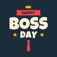 Glücklicher Chef-Tag vektor