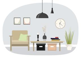 vektor interiördesign illustration