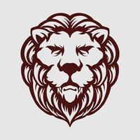 vintage huvud lejon maskot logotyp vektor