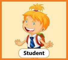 pedagogiskt engelska ordkort av studenten