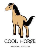 vektor av en söt brun häst eps 10