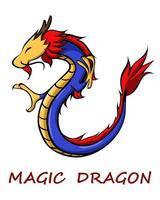 magisk kinesisk drakefärg eps 10
