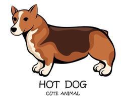 vektor av söt lång och kort hund eps 10.