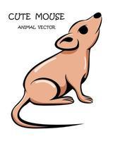 niedliche Maus Tiervektor eps 10 vektor