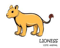 vektor av söt lejoninna eps 10.