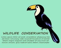 hornbill är en symbol för bevarande av vilda djur eps 10