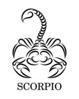 Skorpion Sternzeichen Linie Kunst Vektor Eps 10