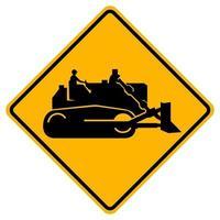 byggmaskiner trafik väg symbol tecken isolera på vit bakgrund, vektorillustration