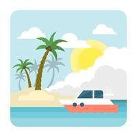 Flacher tropischer Strand vektor