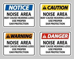 bullerområde kan orsaka hörselnedsättning, använd rätt hörselskydd