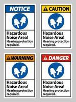 område med farligt buller, hörselskydd krävs