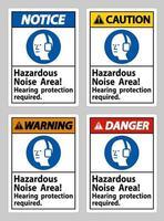 gefährlicher Lärmbereich, Gehörschutz erforderlich vektor