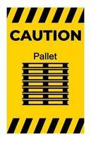 försiktighet ppe-ikon. stapla korrekt symbol tecken isolera på vit bakgrund vektor