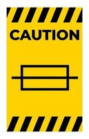 Warnsicherungssymbolzeichen auf weißem Hintergrund vektor