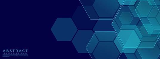 hexagonaler abstrakter Technologiehintergrund. Vektorillustration vektor