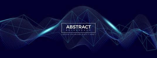 digitale Wellenpartikel. futuristische Welle. abstrakte Technologie Hintergrund Vektor-Illustration vektor