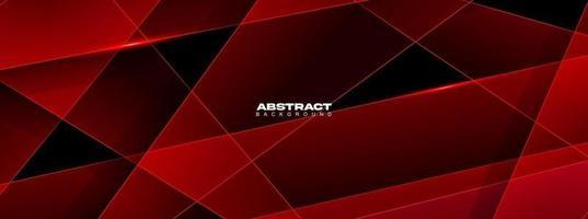 moderner abstrakter geometrischer roter und schwarzer Farbhintergrund. Bewegung, Sport, Linien. Plakat, Hintergrundbild, Landingpage. Vektorillustration vektor