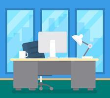 Kontorsskrivbord vektor