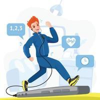 Online-Fitnessstudio während des Aufenthalts zu Hause vektor