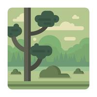 Platt landskapsdesign vektor