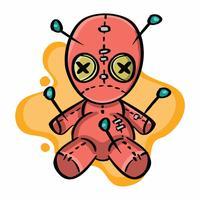 Nette Voodoo-Puppe vektor