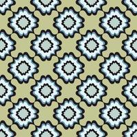 abstrakt geometriskt mönster. blommig orientalisk etnisk bakgrund. arabisk prydnad. prydnadsmotiv för målningarna av forntida indiska tygmönster. vektor