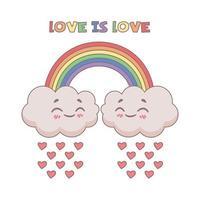 niedliche Illustration der Liebe ist Liebesausdruck vektor