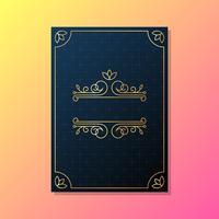 Hälsningskort Bröllopsinbjudan mall vektor